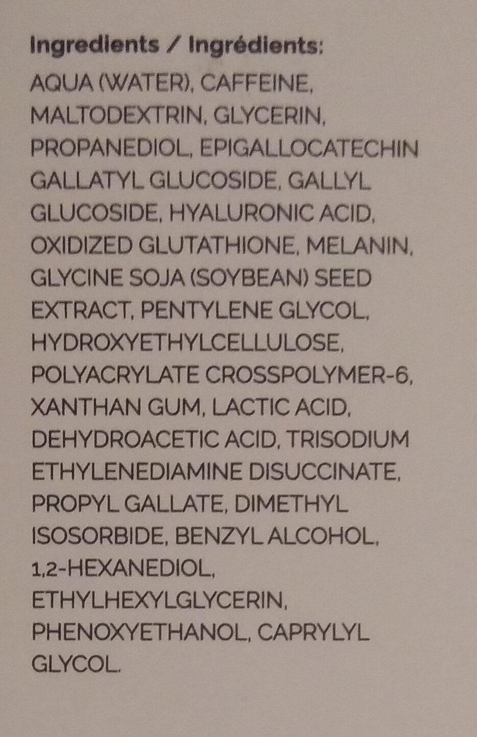 Caffeine Solution 5% + EGCG - Ingredients