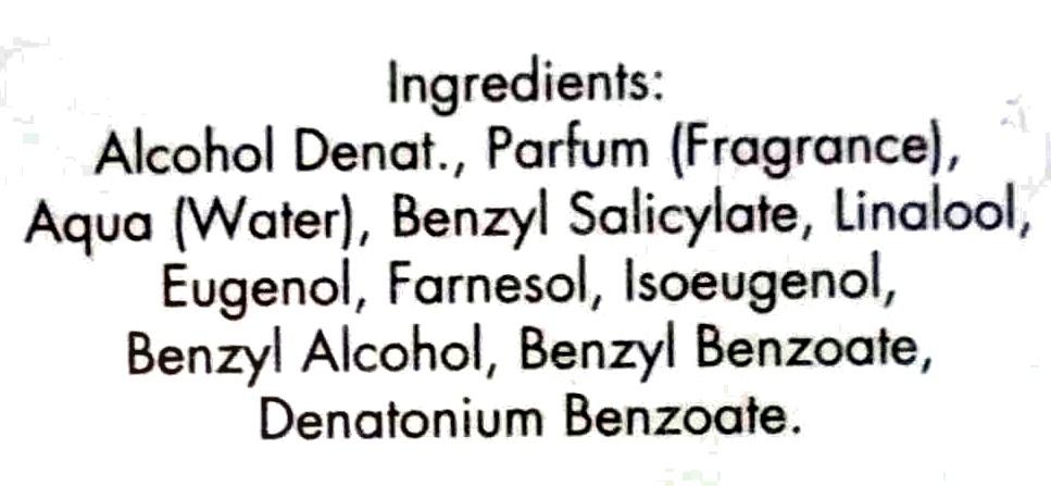 Lily & spice eau de parfum - Ingredients