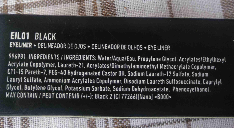 epic ink liner nyx - Ingrédients - en