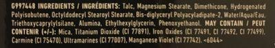 Lid Lingerie shadow palette - Ingredients - fr