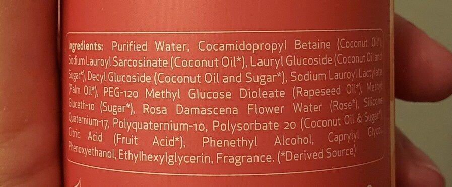 Rose Water Shampoo - Ingredients - en