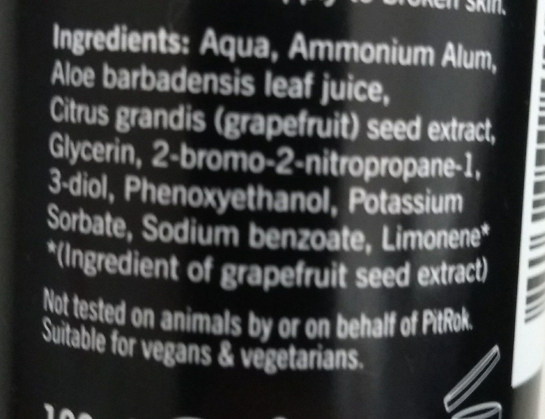 PitROK Crystal - Ingredients