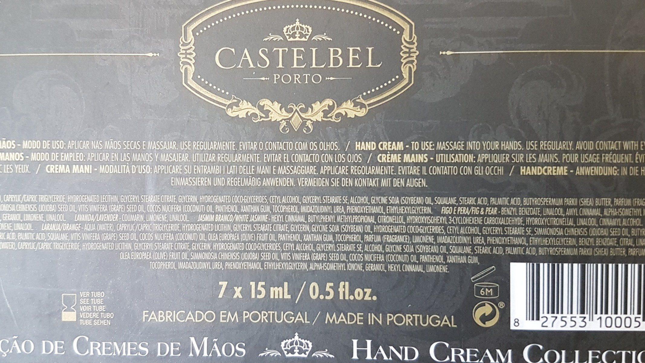 Hand Cream collection - Ingrédients