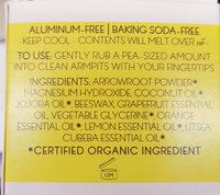 déodorant crème - Ingredients - fr