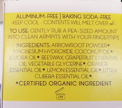 déodorant crème - Ingredients