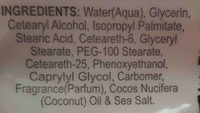 bolero Beverly hills moisturizing body cream - Ingredients