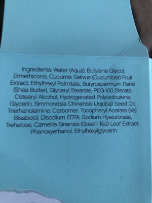 Elf eye cream - Ingredients - en