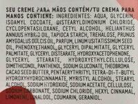 crema de manos natura - Ingredients - en