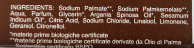 sapone biologico argan - Ingredients - it