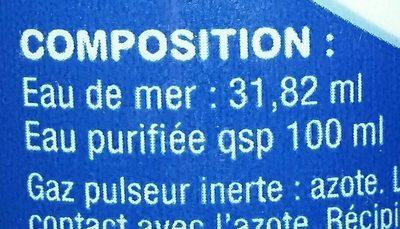 Stérimar, hygiène du nez, 100% naturel - Ingredients - fr