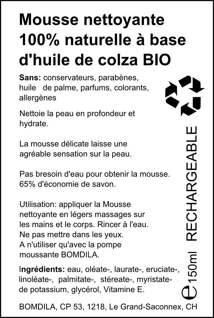 Mousse nettoyante 100% naturelle à base d'huile de colza bio - Product - fr