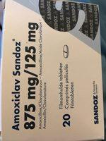Amoxiclav Sandoz 875 mg/125 mg - Produit