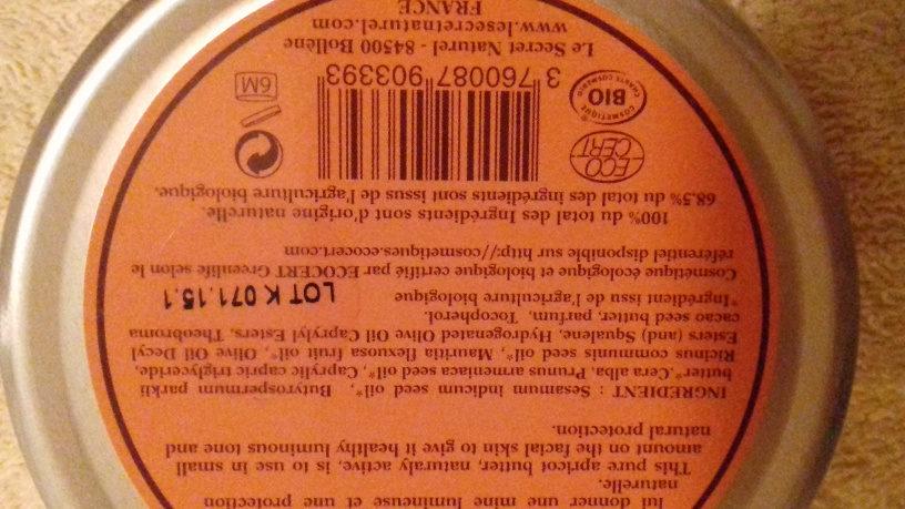 beurre cosmétique - Ingrédients - fr