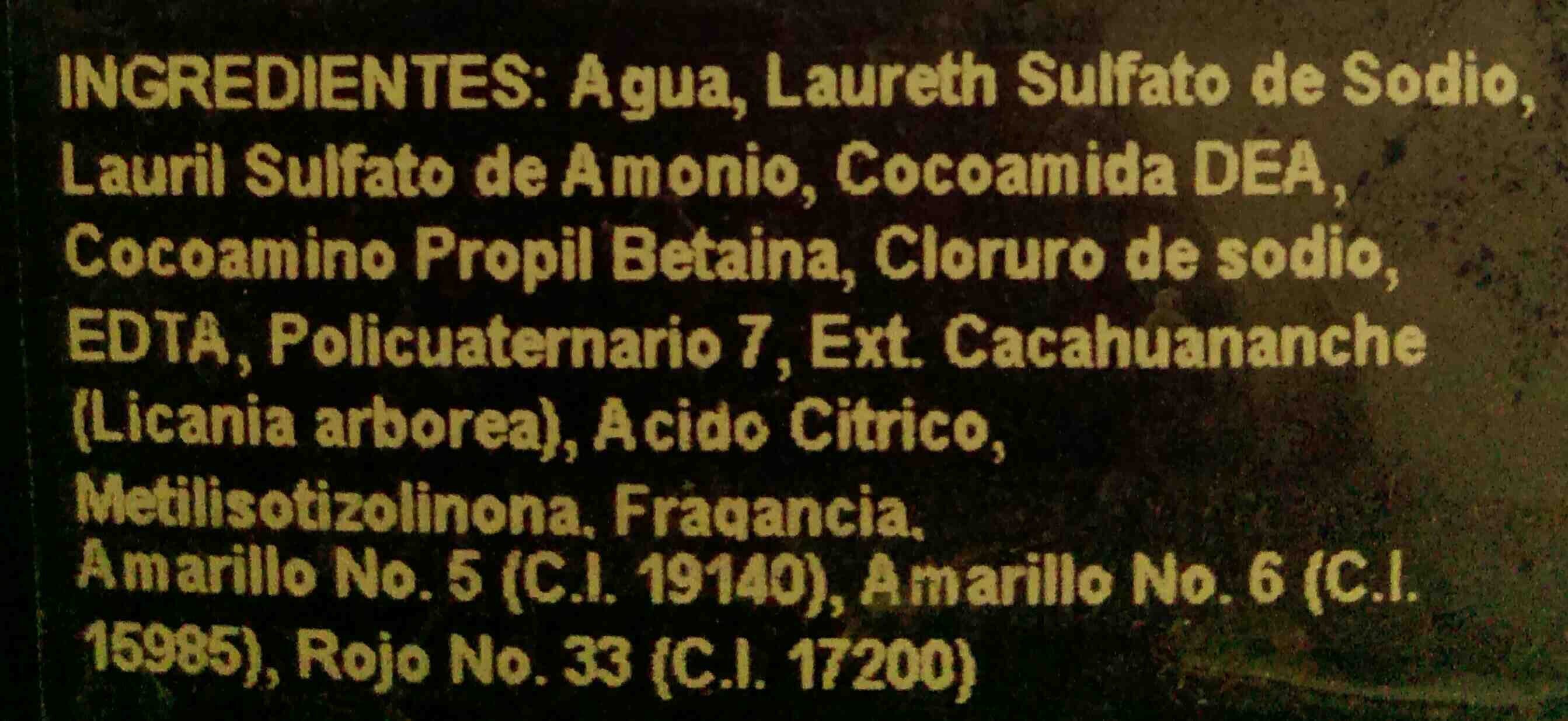 Shampoo Medina - Ingredients