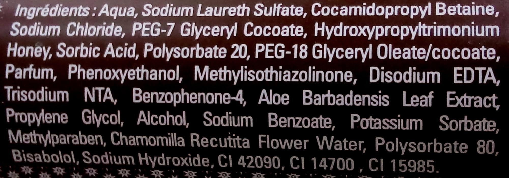 Les Délices Gel douche onctueux Chocolat - Ingrédients