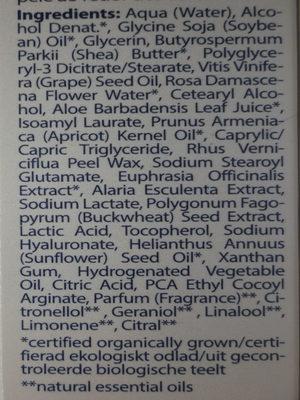 Crème contour des yeux - Ingredients