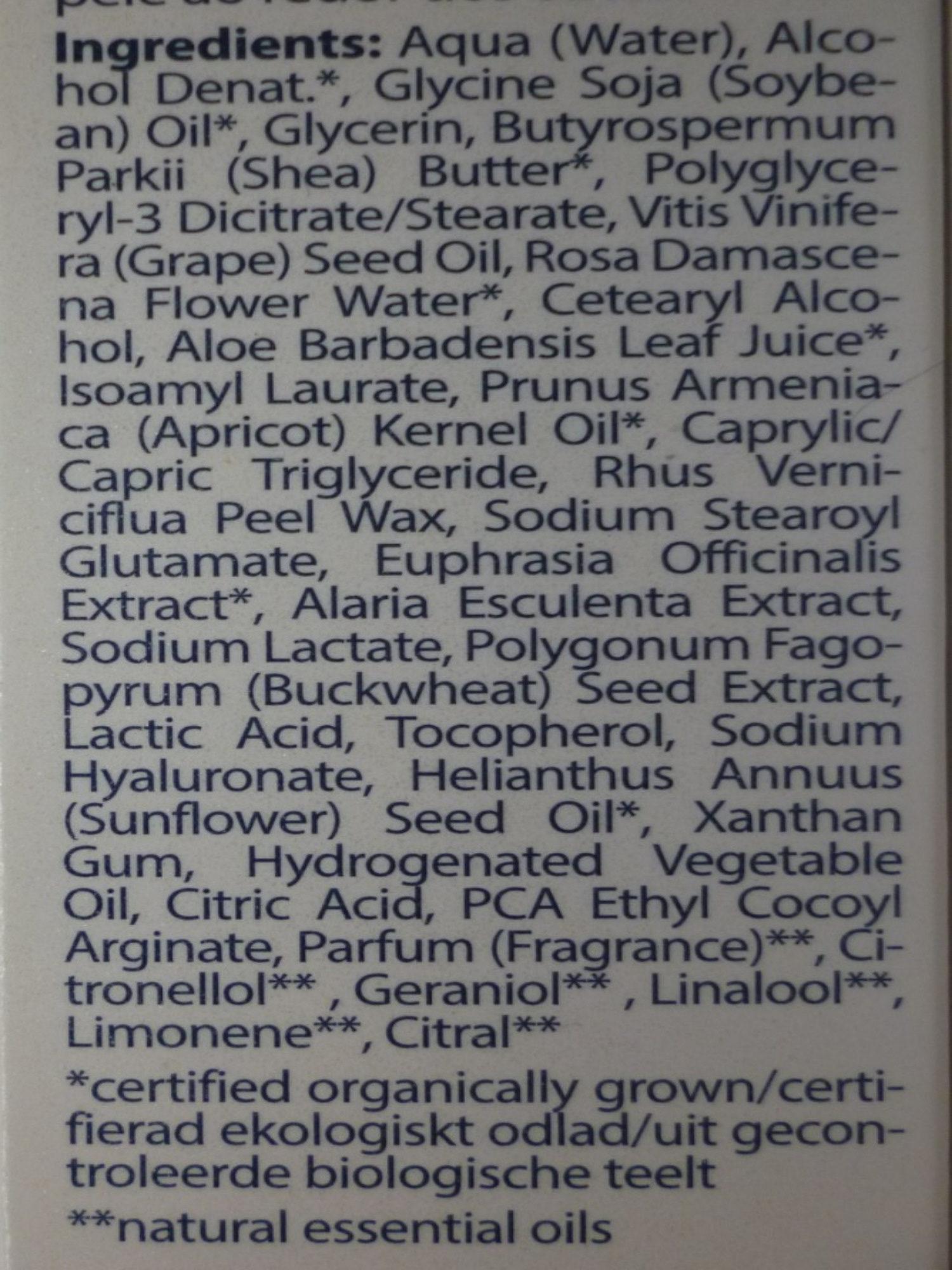 Crème contour des yeux - Ingredients - fr
