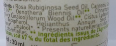 Oleo Serum Visage Peaux matures - Ingredients