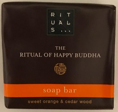 The RItual of Happy Buddha Soap Bar Sweet Orange & Cedar Wood - Product