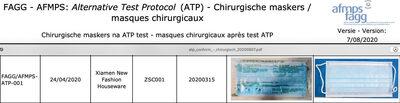 5419980055910.  liste du code de protection de ce masque - Produit - fr