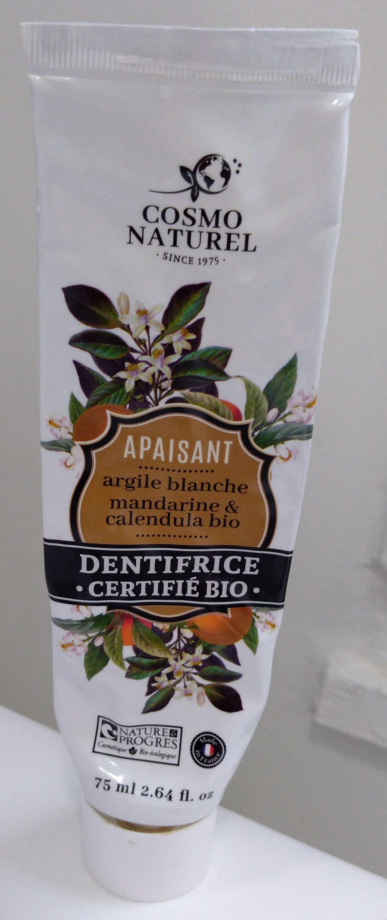 Dentifrice argile blanche mandarine & calendula bio - Product - fr