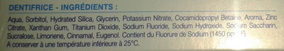 Sensodyne soin complet - Ingredients