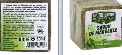Savon de Marseille olive MAITRE SAVON - Produit