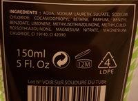LE GEL DOUCHE Cactus/Citron vert - Ingredients - fr