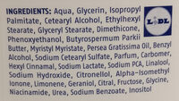 Body Lotion - Ingredients