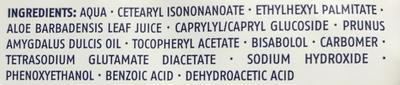 Sensitive Lingettes Nettoyantes pour peaux sèches et sensibles - Ingredients