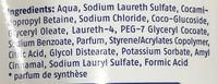 Cream & Care Bain Moussant - Ingredients - fr