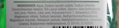 Cien gel de ducha aloe vera - Ingredients - en