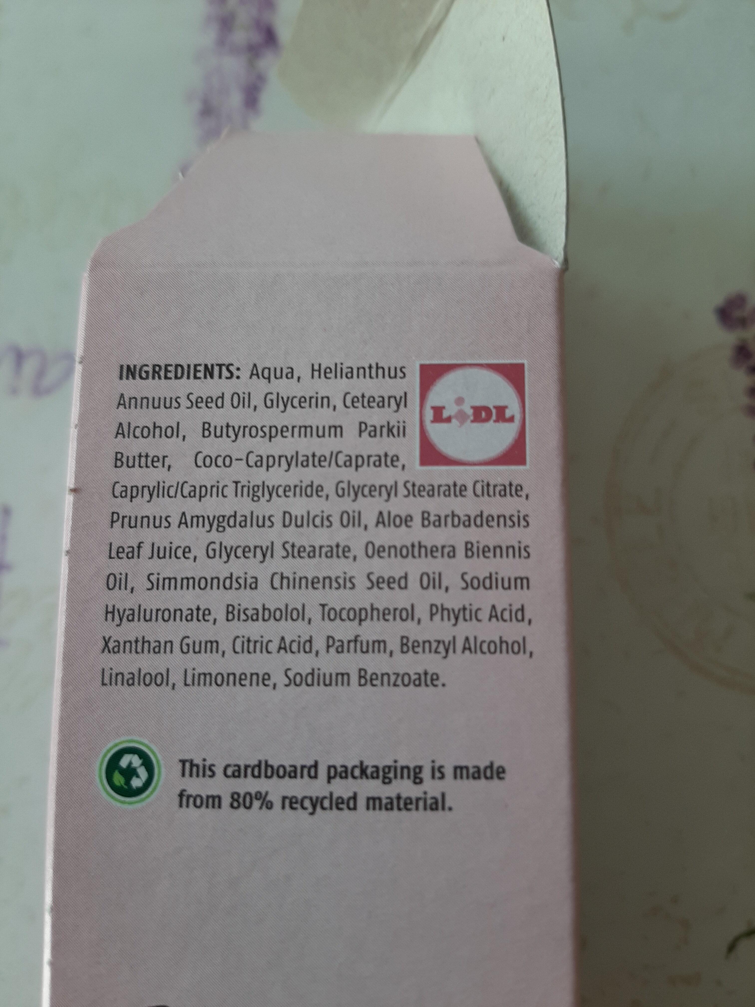 Sensitive face cream - Ingrédients - fr