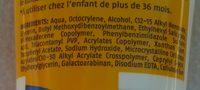 """Cien """"Sun"""" - Ingredients"""