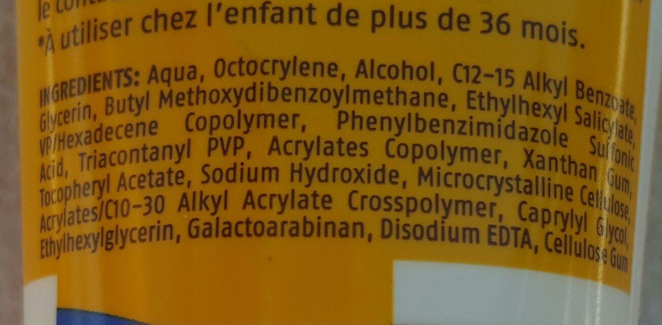 Crème solaire enfant FPS50+ - Ingredients - fr