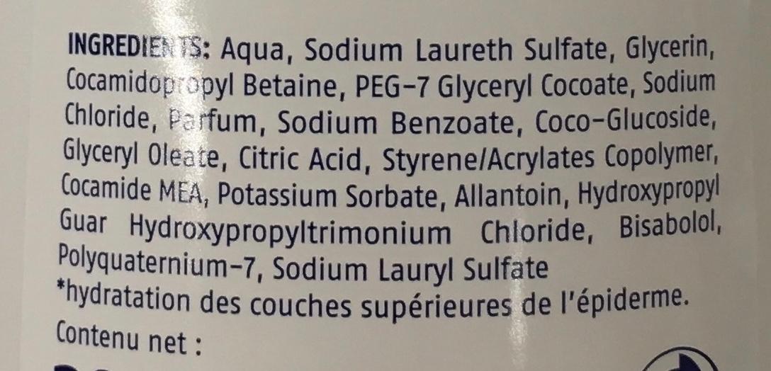 Crème de douche Sensitive - Ingredients - fr