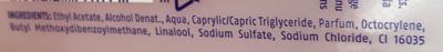 Dissolvant sans acétone - Ingredients