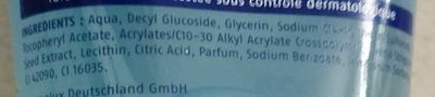Aquarich Gel Lavant Doux - Ingredients