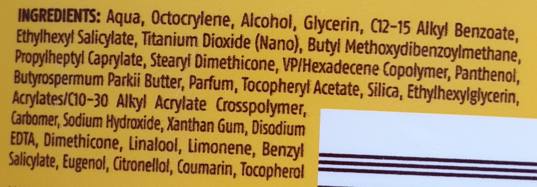 Sonnenmilch classic LSF 30 - Ingredients - de