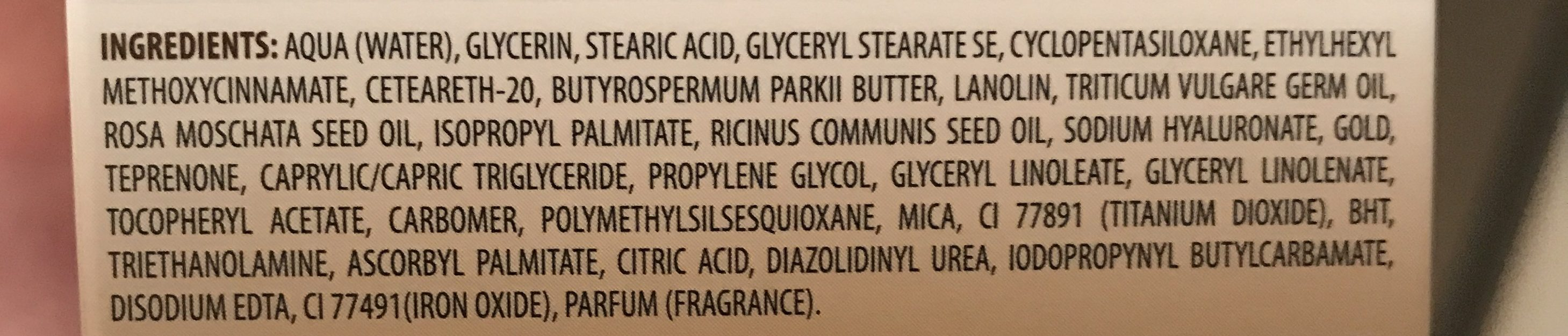 Cien Gold Cell Regenerating Night Cream 50ML - Ingrédients - fr