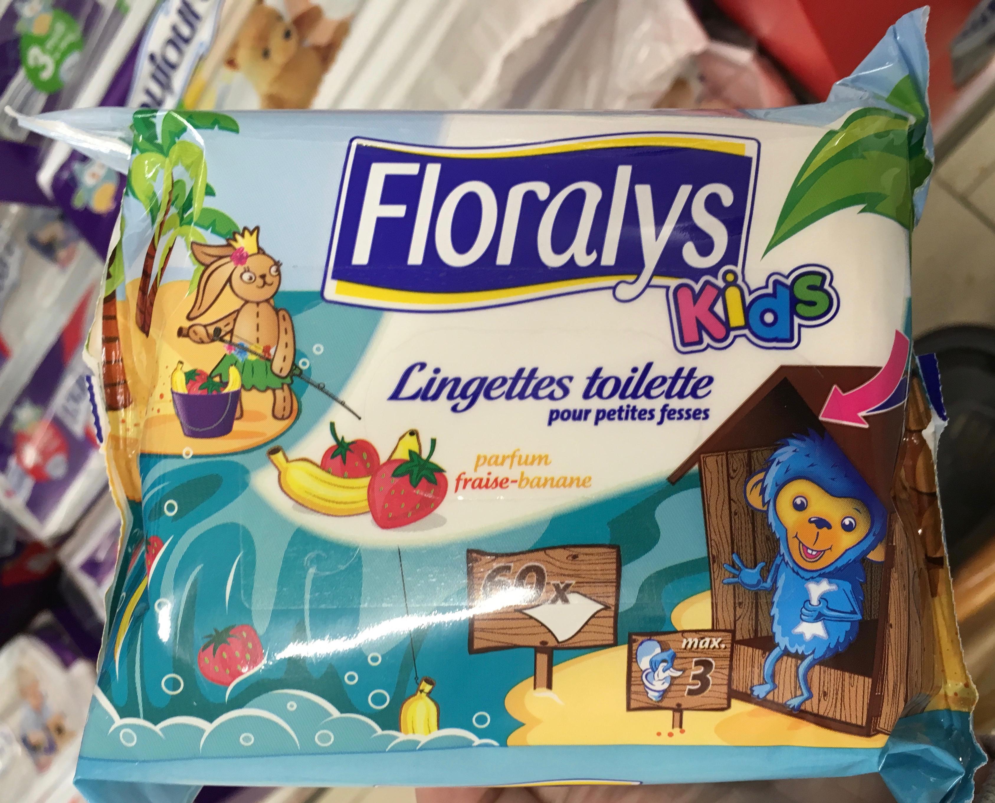 Lingettes toilette pour petites fesses parfum fraise-banane - Produit