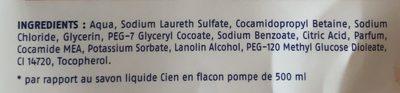 Recharge Savon liquide pour les mains Grenade - Ingredients