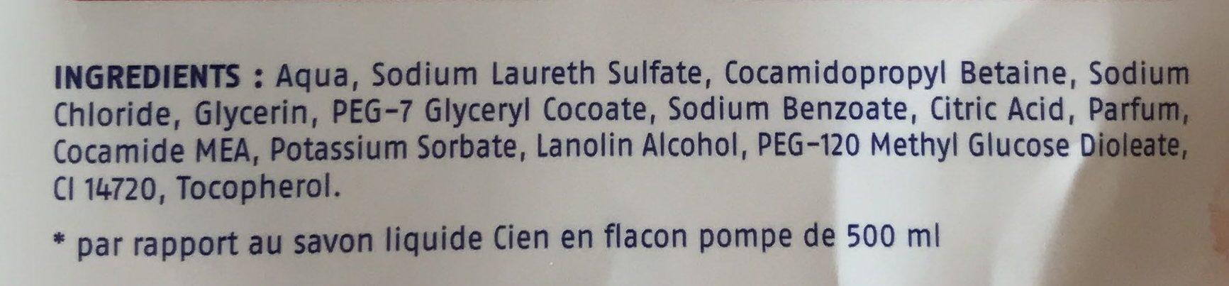 Recharge Savon liquide pour les mains Grenade - Ingredients - fr