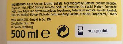 Handseife flüssig Milch&Honig - Ingredients - en