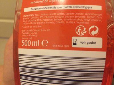 Gel lavant pour les main - Ingrédients - fr