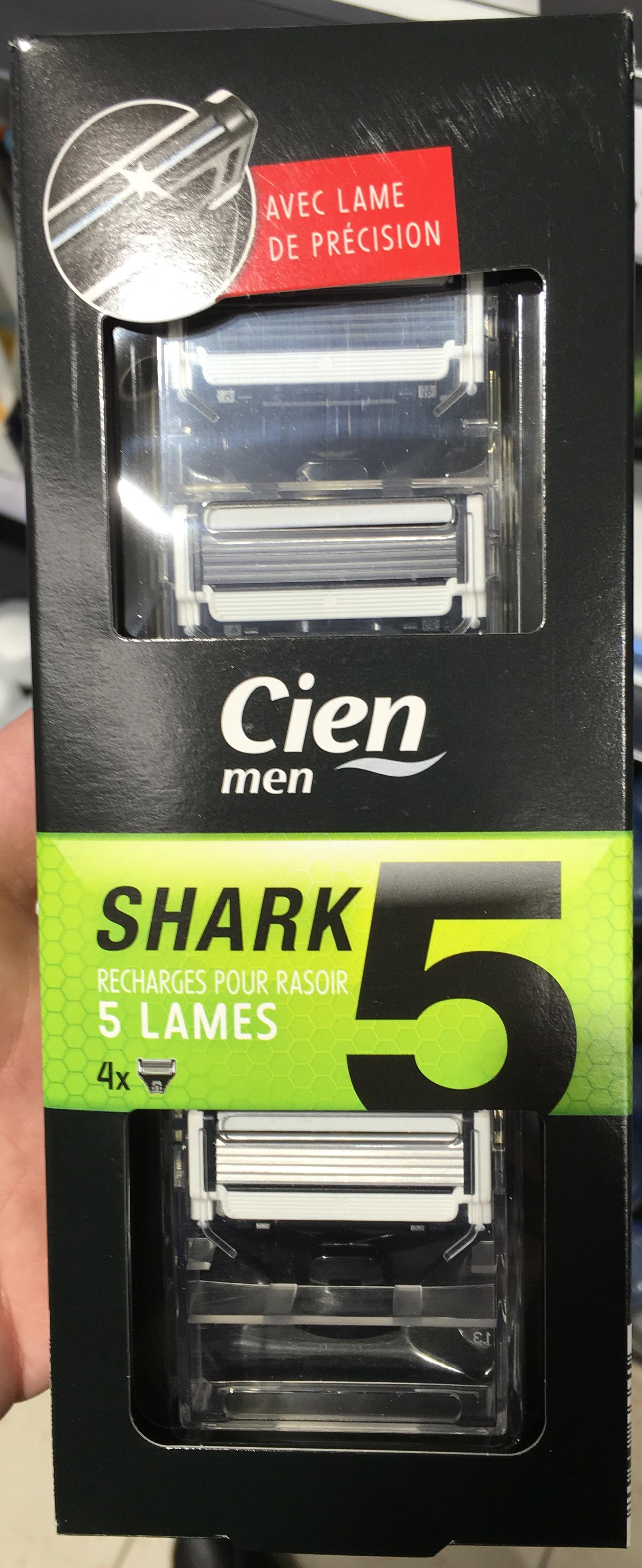 shark recharges pour rasoir lames cien men  shark recharges pour rasoir 5 lames product