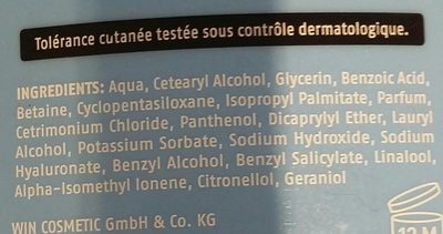 Après shampooing fantastic volume - Ingrédients - fr