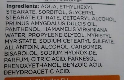 Reinigungsmilch sanft - Ingredients