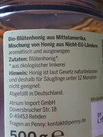 Bio-Blütenhonig flüssig - Ingredients