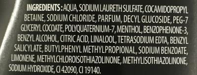Man men's care Shampooing Douche 3 en 1 Ocean - Ingredients